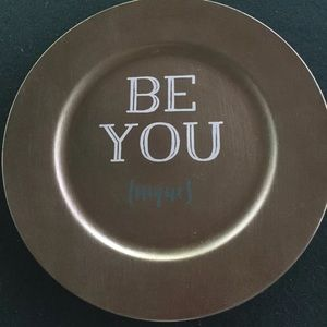 Be You Nique Gold Charger Plate